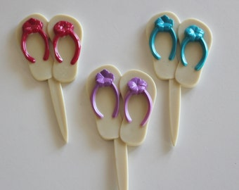 Summer Flip Flops Cupcake Picks
