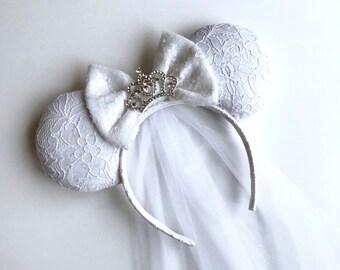 Bride Ears with Detachable Veil