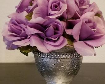 Purple Roses Floral Arrangement