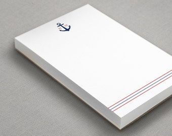 Personalized Nautical Note Pad | Anchor To Do List | Customized Boating Notepad | Sailing Gifts for Men | ANCHOR MONOGRAM