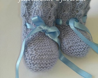 Baby shoes baby booties/pure wool booties