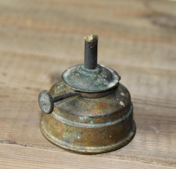 Vintage Brass Oil Lamp British Make WW1 Era Patina