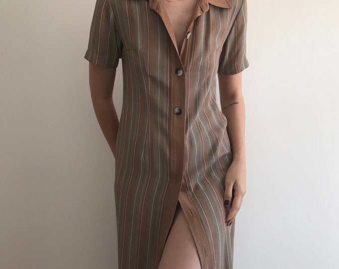 Vintage Button Down Earth Dress