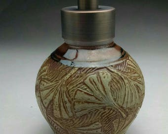 Foaming Soap Dispenser, With Ginkgo Leaf Design Bronze Stainless  Steel Dispenser Pump. Made to Order.