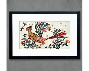 Roadrunner and Prickly Pear Cactus Print