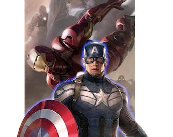 Captain America Backlit Display