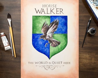 Custom Art - Game of Thrones House Sigil / GOT Inspired Coat of Arms / Hand Drawn Arms - Custom House Shield - Personalized artwork