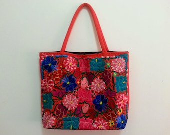 Mexican embroidered floral bag