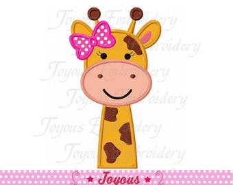 Instant Download Girl Giraffe Applique Embroidery machine Design NO:2356