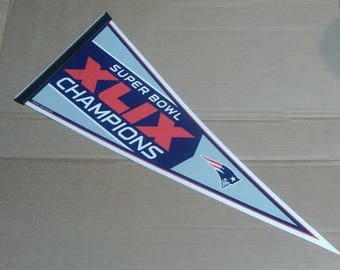 New England Patriots Super Bowl XLIX (49) Champions Pennant - Full Size