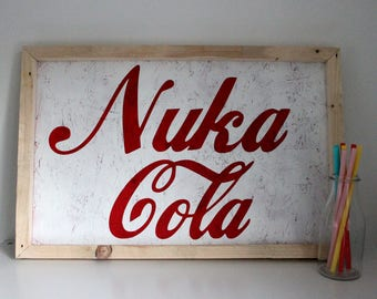 Nuka Cola Wall Art - Fallout Painting - Gift for Gamers - Games Room Decor - Gift for Geeks - Man Cave Decor - Christmas Gift