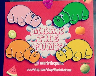 Hungry Hungry Hippo pins