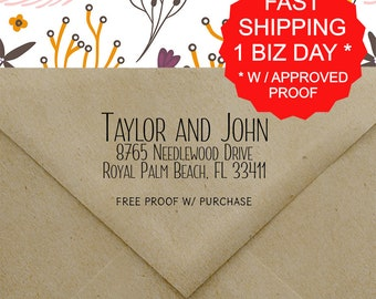 Return Address Stamp, Address Stamp, Self Ink Return Address Stamp, Custom return address stamp, Wedding Address Stamp, Handle Stamp (20467)
