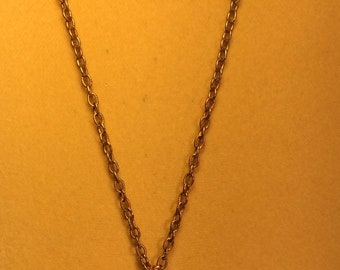 Copper And Marcasite Necklace. Vintage Necklace