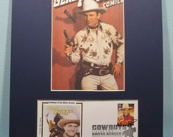 Western Movie and TV  Cowboy Star Gene Autry & First Day Cover of the Gene Autry stamp