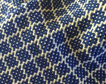 Handknit Heirloom Mosaic Lap Blanket Baby Blanket