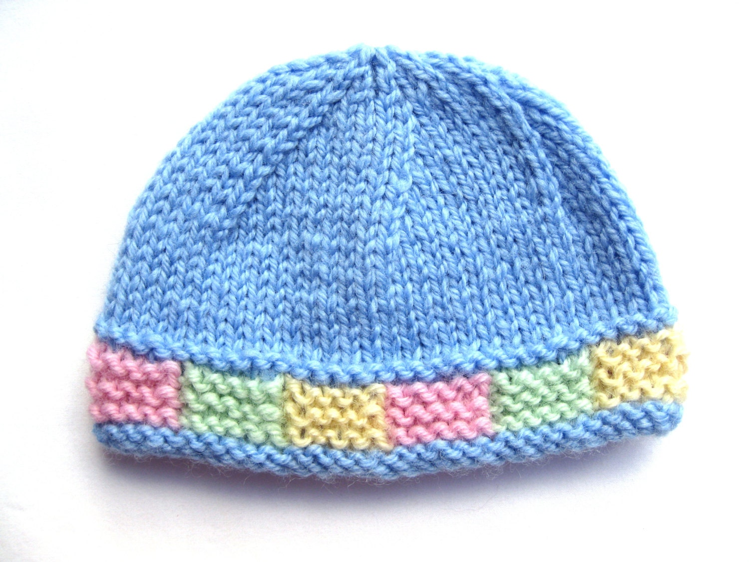 Instant download PATTERN Knit PREEMIE Hat with Colorful Garter ...