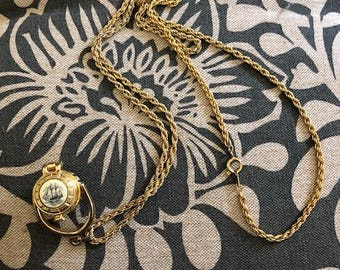 Nantucket Basket Necklace with Lucky Penny
