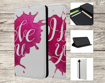 I Love You Text Full Flip Case For Samsung Galaxy (S6497)