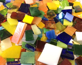 150 MOSAIC #7 GRAB BAG Bonanza!  Stained Glass Mosaic Tiles B48