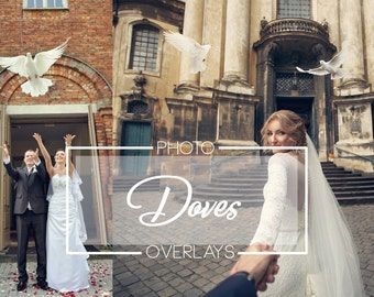 63 Doves photo overlays, PNG overlays