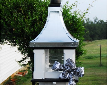 Bird Feeder, Tin Bird Feeder, Handcrafted Large Feeder, Pagoda Bird Feeders, Father's Day Gift