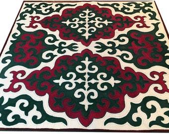 Red Carpet, Area Rug Home Carpet, Handmade Oriental