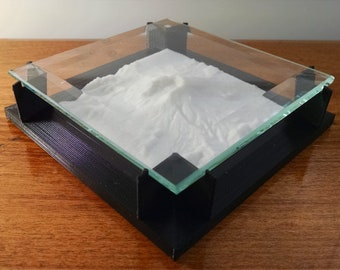 Mount Saint Helens - 3D Printed Landscape (with glass coaster or various sized bases)