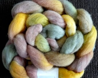 Earth Goddess - Spinning Roving Felting Top - Hand Dyed Wool - Polwarth Wool - 5 oz