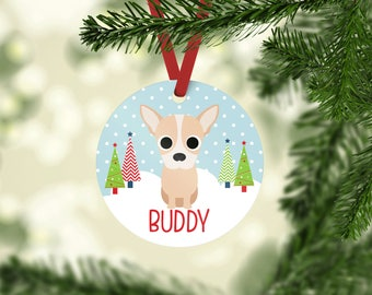 Fawn Chihuahua ornament \ personalized Fawn Chihuahua Ornament \  Fawn Chihuahua Gift \ Custom Dog Ornaments \ Chihuahua  Mom