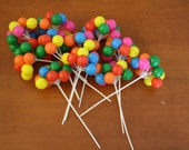 Vintage Plastic Balloon Cupcake Toppers