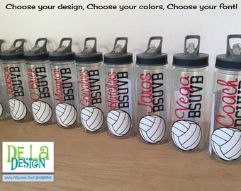 Personalized drinkware, Basketball, Softball, volleyball, or other sport, name, Available in sport bottle, skinny, kiddie & XL Tumbler
