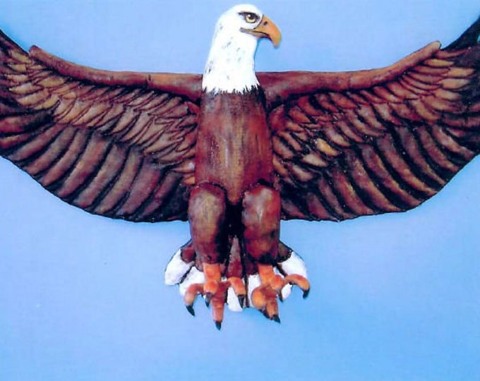 SE772E -  Painted Fabric Eagle, Doll/Bird Art Pattern - PDF Download by Susan Barmore