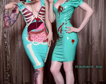 I Love Your Guts Latex Dress