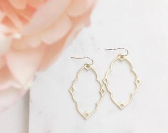 PIPPA | Moroccan Earrings | Gold Moroccan Earrings | Boho Earrings | Gold Statement Earrings | Brushed Gold Moroccan Earrings | Gift For Her