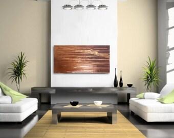 "Modern, Acrylic On Canvas, Original, 30""x15"" -Mysterious"