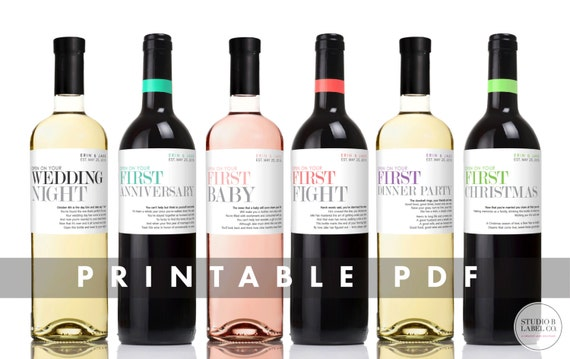 printable wine bottle labels
