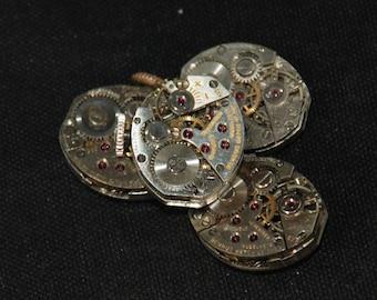 Vintage Antique Tiny Watch Movements Steampunk RT 50