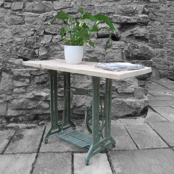 Vintage Industrial Sideboard Hall Table Upcycled Singer Sewing Machine Table