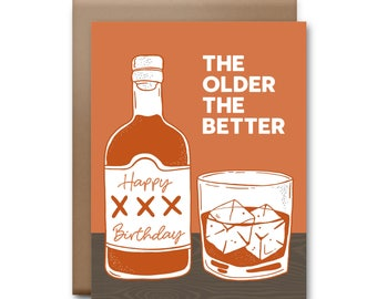 Happy Birthday the Older the Better Greeting Card