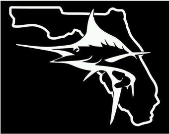 Florida Marlin offshore fishing decal sticker vinyl