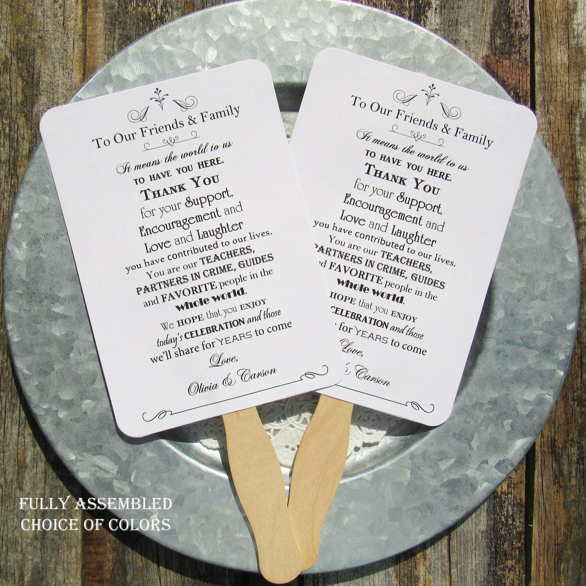 Wedding Hand Fans Wedding Ceremony Fan Personalized Hand