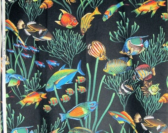 Alexander Henry Cotton Fabric Tropical Fish by the Yard