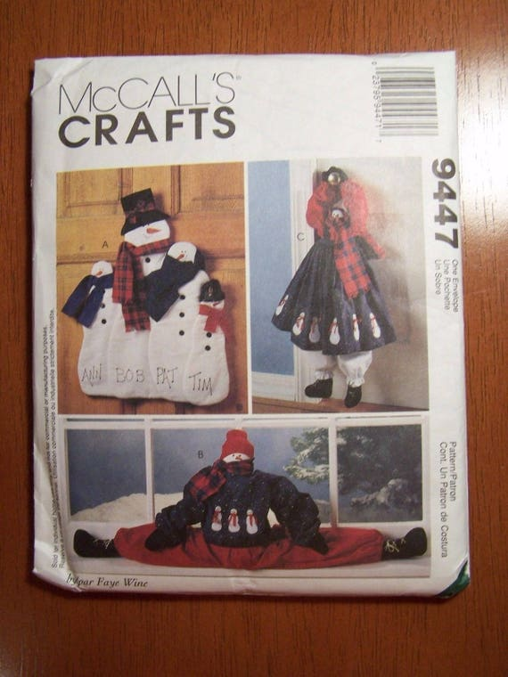 McCall\u0027s 9447 Craft Christmas Snowmen Wall or Door Hangings and Door Drafter Uncut New from Allicanfind on Etsy Studio & McCall\u0027s 9447 Craft Christmas Snowmen Wall or Door Hangings and Door ...