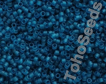 5g Toho 11/0 Treasure Cylinder Seeds Beads Transparent Matte Teal Green Blue TT-01-7BDF Cylinder Rocailles Frosted Dark Green