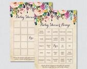 Floral Baby Shower Bingo ...