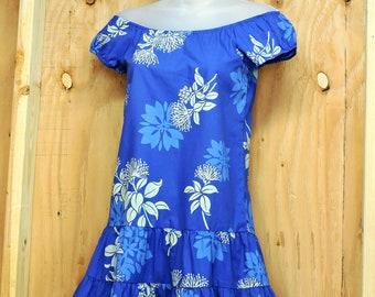 KALA Hawaii dress / XXS size 1 / 2 / Vintage 70s/  80s Hawaiian dress / Hawaiian island Muumuu aloha dress