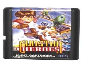 Gunstar Heroes Fan Made Custom Sega Genesis Game. 16bit!