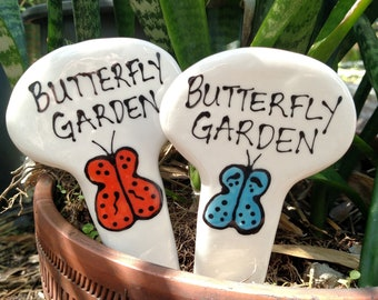 Butterfly garden plant stake.