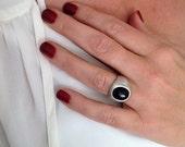 Silver Ring, Druzy Ring, ...